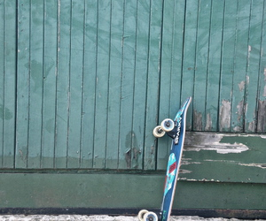 board, girl, and green image