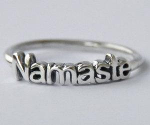 namaste, ring, and silver image