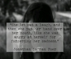 girl, jonathan safran foer, and black and white image