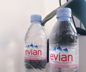 evian, water, and pale image