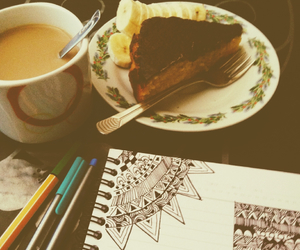 black, coffe, and drawing image