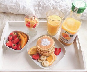 breakfast, food, and pancakes image