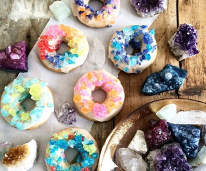 donuts, colors, and crystal image