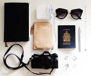 camera, travel, and sunglasses image