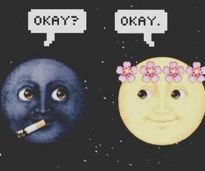 moon, okay, and wallpaper image