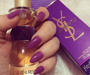 nails, YSL, and perfume image