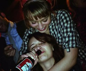 friends, girl, and drink image