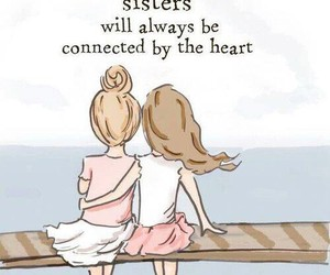 sisters, heart, and friends image