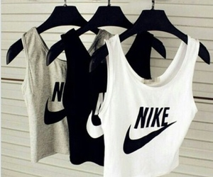 nike, black, and white image