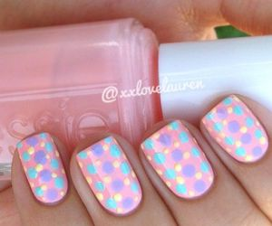 nails, dots, and nail art image