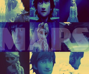 frozen, maps, and hiccup image