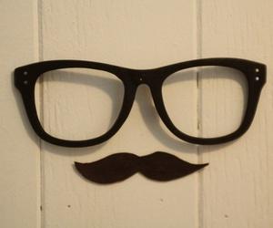 mustache, glasses, and moustache image