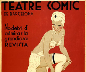 poster, spain, and vintage image