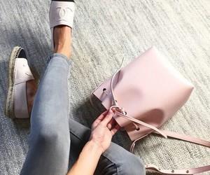 black & white, fashion, and pink image