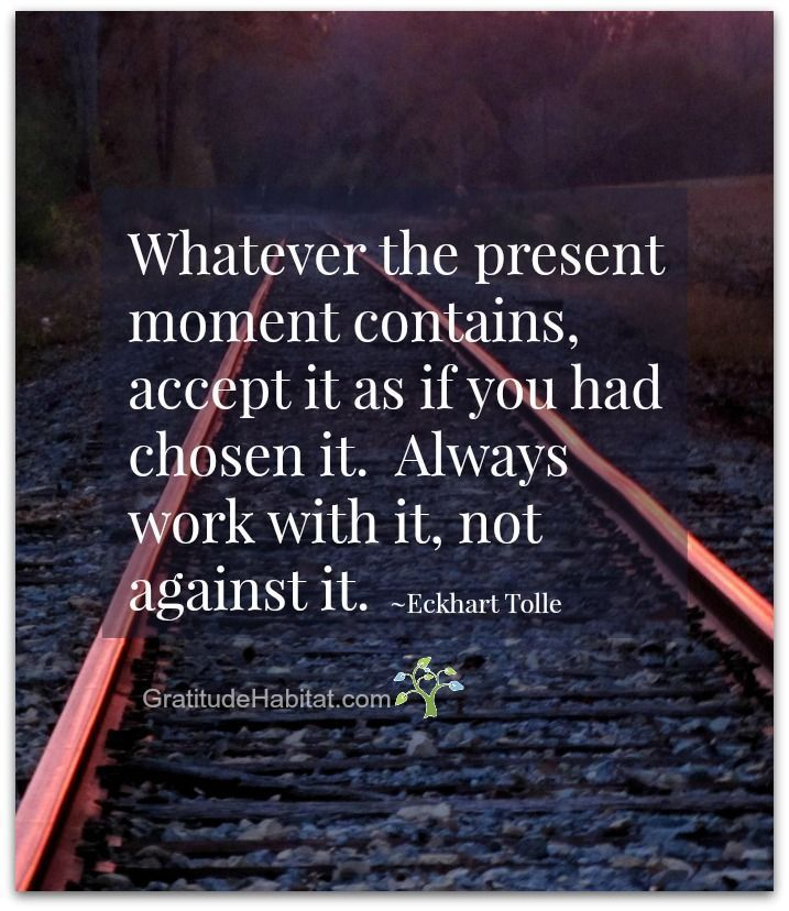 Gratitude And Accepting The Present Moment