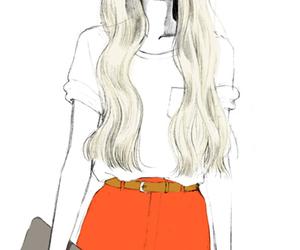 girl, fashion, and drawing image