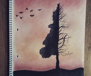arbol, art, and black image