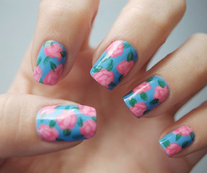 cool, nail, and flower image