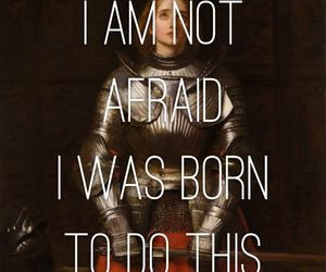 not afraid and quote image
