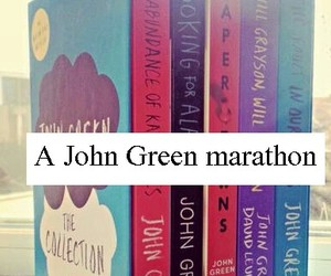 book, john green, and Marathon image