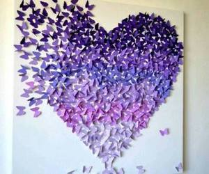 heart, purple, and butterfly image