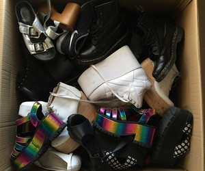 goth, grunge, and shoes image