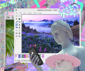 aesthetics, pastel, and seapunk image