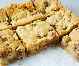chocolate chip, sweets, and cookie bars image