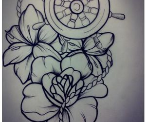 draw, ink, and Tattoos image