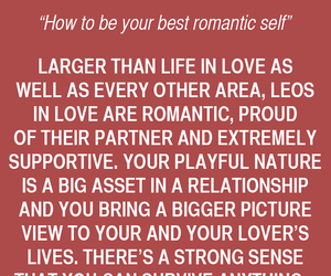Leo, Relationship, and love image