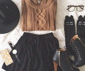 black, skirt, and clothes image