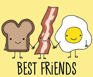 best friends and bacon image
