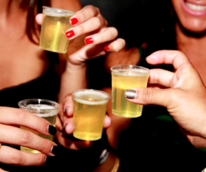 drink, girls, and nails image