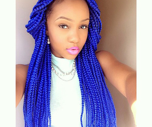 blackhair, neat, and blue image