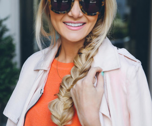 braid, girl, and blonde image