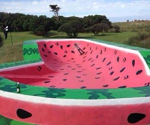 skate and watermelon image