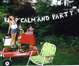 party, girl, and keep calm image