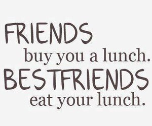 friends, lunch, and best friends image