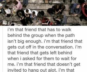 friends, sad, and alone image