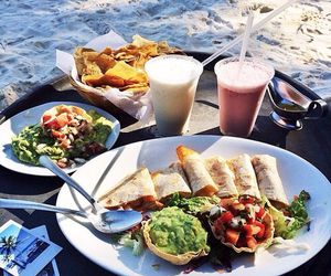 food, healthy, and beach image