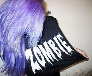 zombie, girl, and hair image