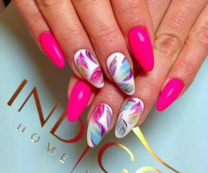 nails, fashion, and feather image