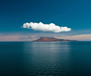 clouds, sea, and ocean image