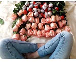 kinder, pink, and roses image