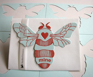 bee, card, and mine image