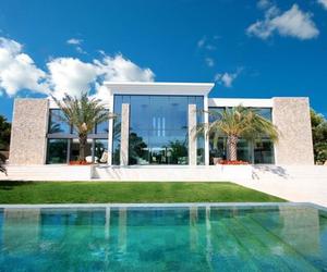 beautiful, palms, and house image