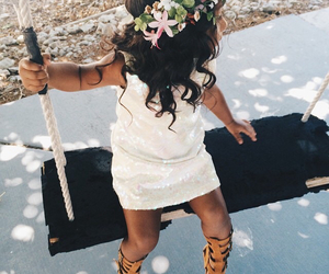 cute, flowers, and baby image