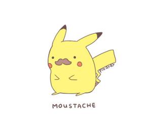 pikachu, moustache, and pokemon image
