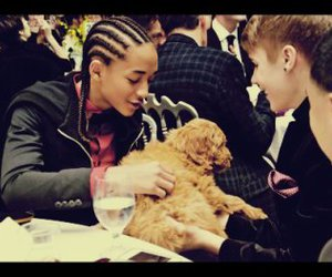 justin bieber, jaden smith, and dog image