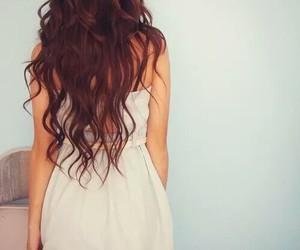 hair, girl, and dress image